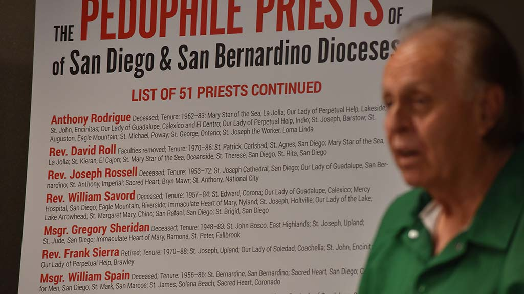 Msgr. Gregory Sheridan was named in the lawsuit as the clergyman who abused Edward Ortega.