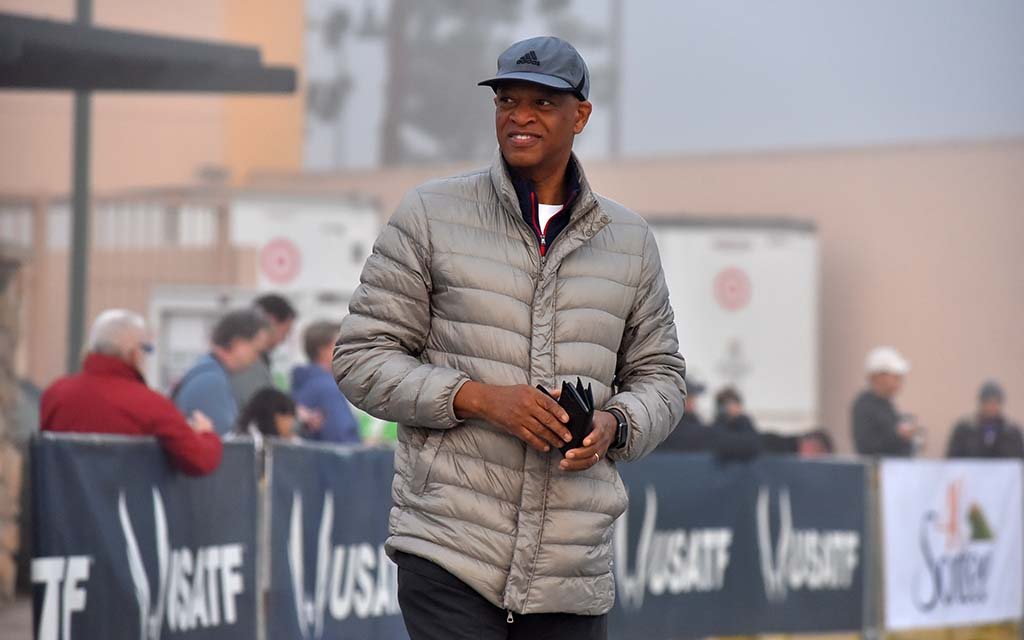 Olympian Willie Banks, new member of the World Athletics governing council, came to observe the Olympic Trials.