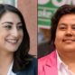 Sara Jacobs (left) and Georgette Gomez will be joined at Sunday's debate by Jose Caballero, Janessa Goldbeck and Joaquín Vázquez. File photos