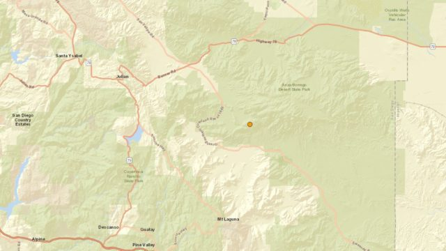 Map shows earthquake location