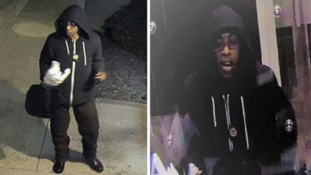 Surveillance photos of bank robbery suspect