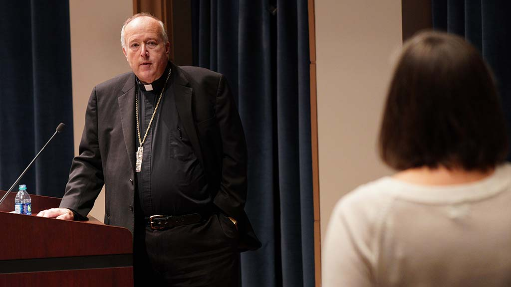 "Bishop McElroy decried denying communion to pro-choice politicians, ""making the eucharist a weapon."""
