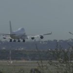 Chartered 747 lands at Miramar