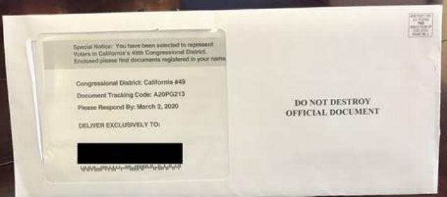Deceptive mailing