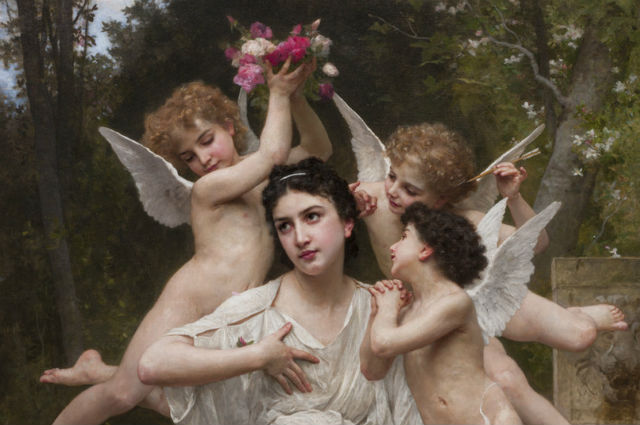 "William-Adolphe Bouguereau's ""Dream of Spring"""