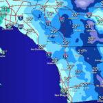Forecast low temperatures