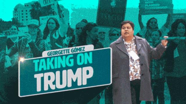 Kongress-Kandidat Georgette Gómez Ziele Trumpf im Ersten TV-Spot