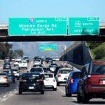Traffic on Interstate 8