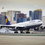 German airliner landing in San Diego