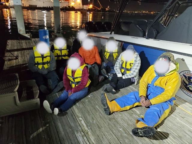 Migrants intercepted by Border Patrol