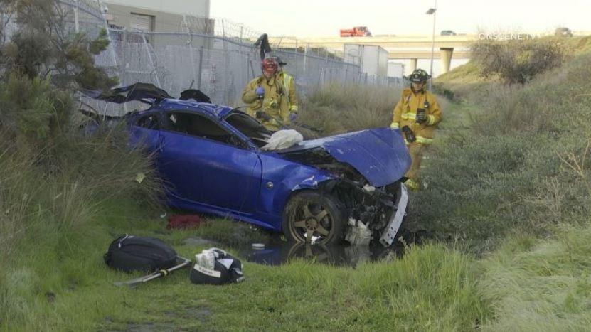 Nissan wreckage