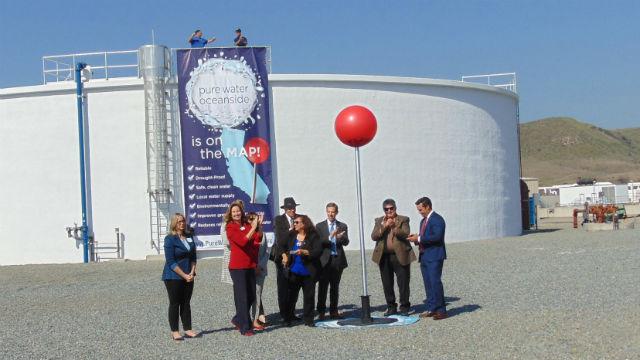 Oceanside Spatenstich für die Recycling-Anlage Liefern 32% des Wassers