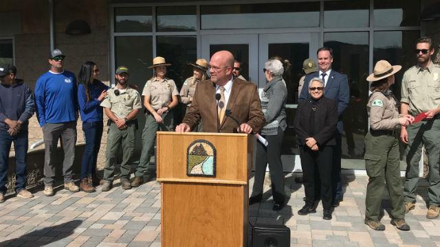 Scott Sherman opens ranger station