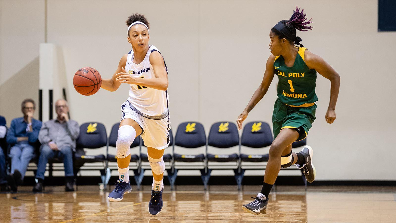 UCSD Μπάσκετ Γυναικών Αρχεία καταγραφής 10η Ευθεία Νίκη για να Κρατήσει την 1η Θέση
