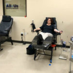 Sen. Toni Atkins donates blood