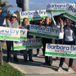 Barbara Bry with supporters