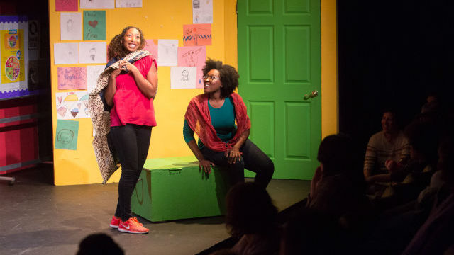 "A scene from ""Safa's Story"" at Blindspot Collective."