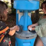 COVID-19 risk is targeted with handwashing stations.