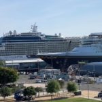 Celebrity Eclipse and Disney Wonder in port