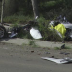Wreckage of Cobra kit car