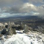 Snow on Palomar Mountain on Monday morning