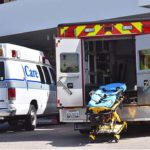 Ambulances at Kaiser Permanente Zion Medical Center in Grantville.
