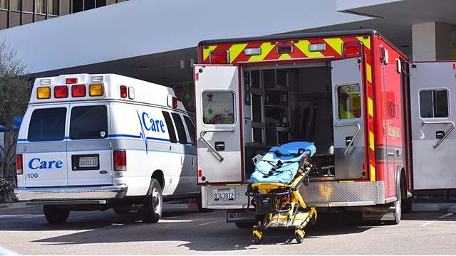 Ambulances at Kaiser Permanente in Kearny Mesa