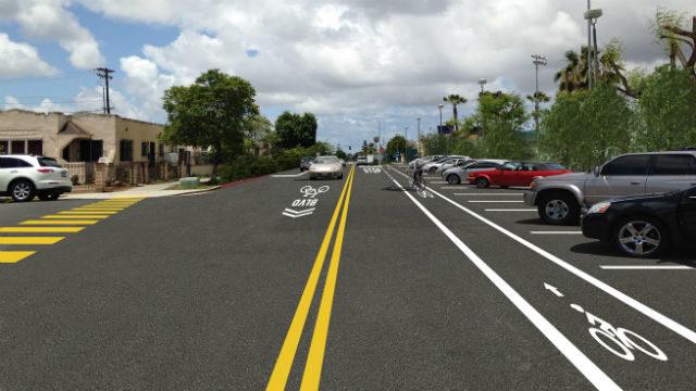 Landis Street bike lane