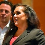 Assemblywoman Lorena Gonzalez (with Supervisor Nathan Fletcher, her husband, in background) was nearly 50 points ahead of her nearest rival in 80th District.