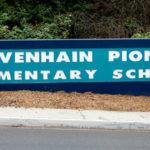 Olivenhain Pioneer Elementary School sign
