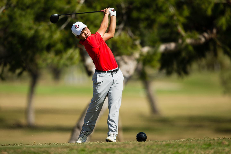 San Diego State παίχτης του Γκολφ το όνομά του με την Ομάδα για τον Arnold Palmer Κύπελλο στην Ιρλανδία