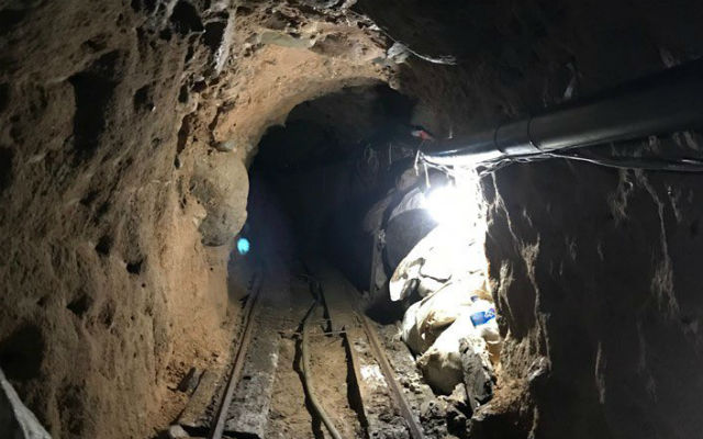Interior of smuggling tunnel
