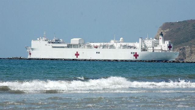 Gouverneur: Bereitstellen Hospitalschiff Mercy Los Angeles als Coronavirus-Fälle Surge