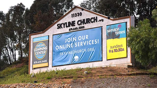 Worship services have transitioned to online at Skyline Church in La Mesa in response to limits on crowd size.