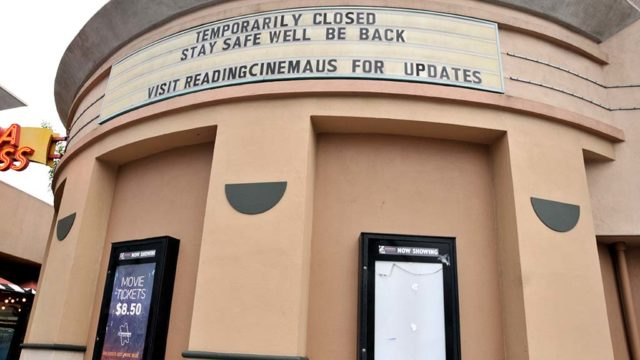 Movie theaters like Reading Cinemas at La Mesa's Grossmont Center have closed.