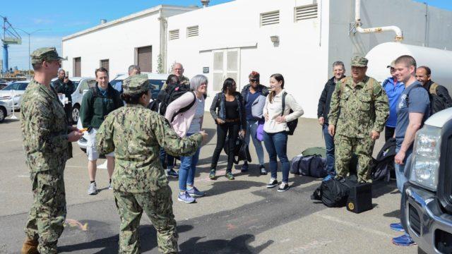 Navy Reservists prepare to depart
