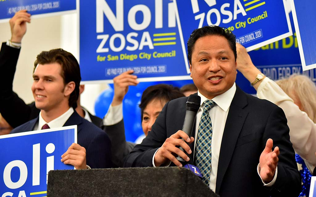 San Diego City Council candidate Noli Zosa headed for a November runoff in District 7. Photo by Chris Stone
