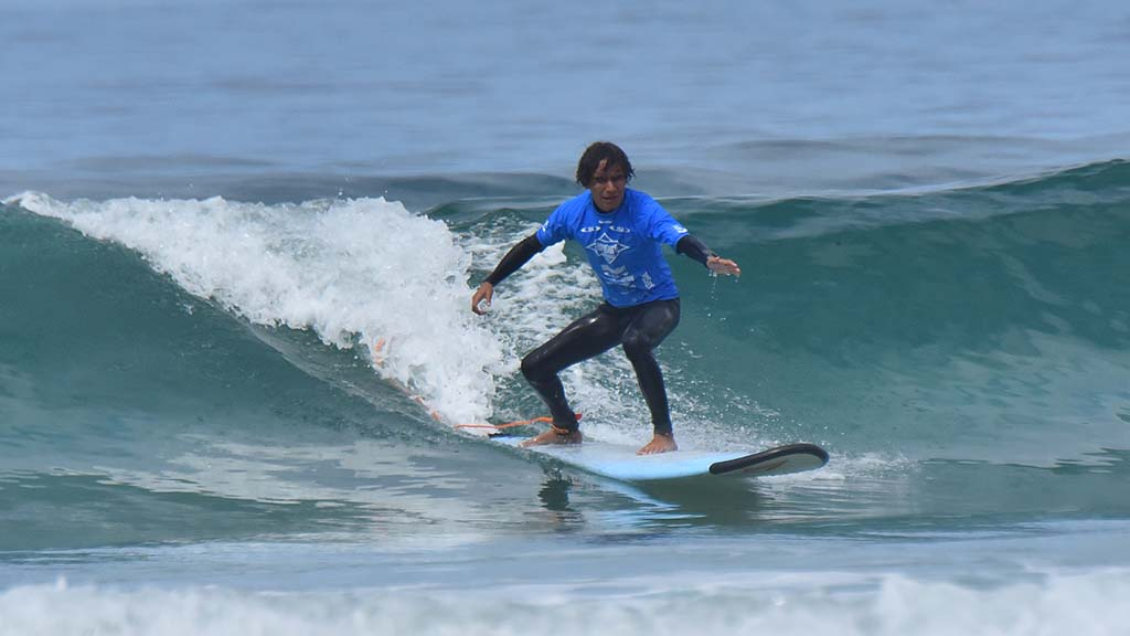 A visually impaired surfer from Costa Rica conquered numerous waves in his category.