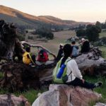 Scene from the county Office of Education's 6th Grade Camp in the Cuyamaca mountains