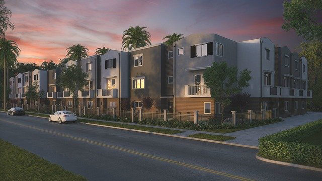 A modern apartment development