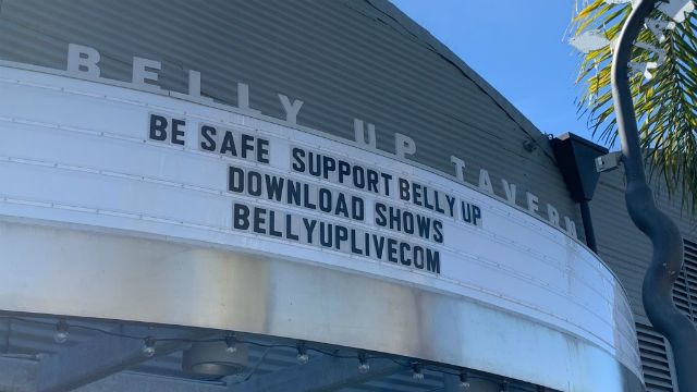 Belly Up Tavern marquee