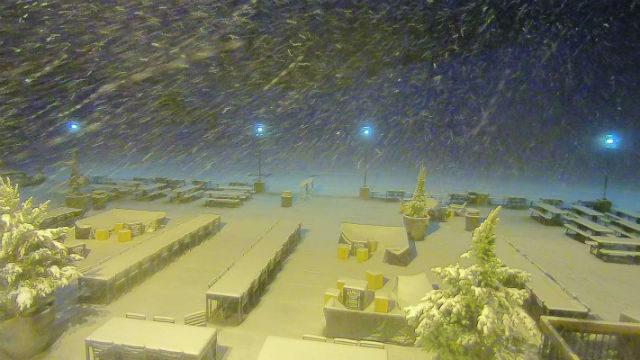 Snow at Big Bear Mountain Resert