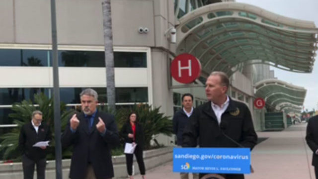 Kevin Faulconer at the convention center
