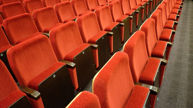 Empty seats in a theater