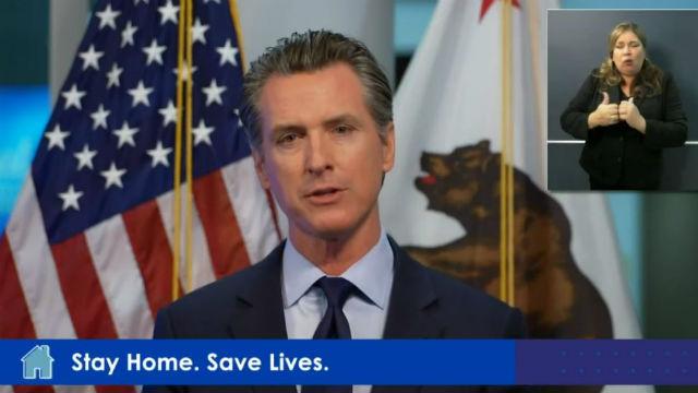 Gavin Newsom speaks at press conference