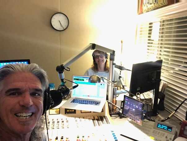 Jagger and Kristi broadcasting at home
