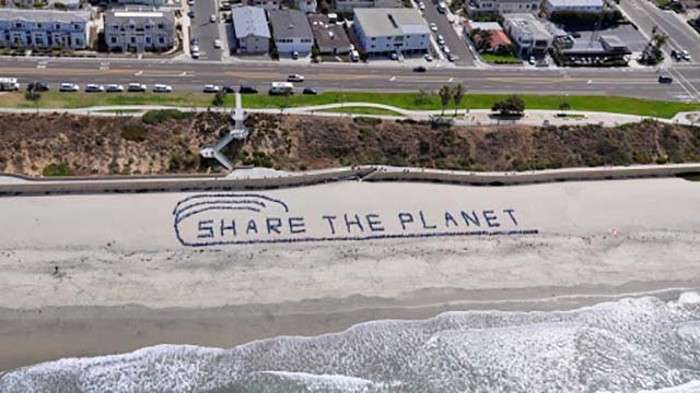"""As far back as 2009, when Jefferson Elementary School students formed a """"SAVE THE PLANET"""" message on the beach, the Carlsbad school has focused on environmental issues."""