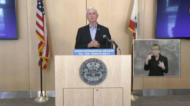 Sheriff Bill Bore briefs local media