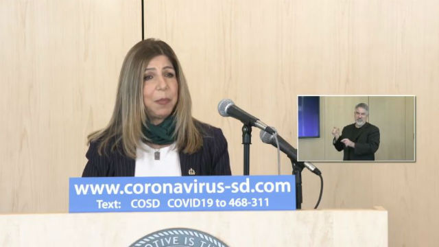 Summer Stephan speaks at county press conference