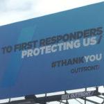 Billboard in Hillcrest thanks first responders